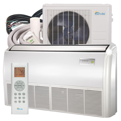 18000 BTU Floor Mounted Mini Split Air Conditioner - Heat Pump - SENA/18HF/IF