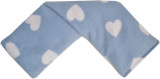 Blue Hearts Print Fleece Cover Cotswold Lavender Wheat Bag