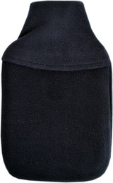 Cosy Fleece Plain Navy Blue 2L Hot Water Bottle & Cover