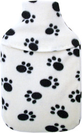 Cosy Fleece Paw Print 2L Hot Water Bottle & Cover