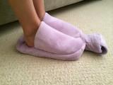 Lilac Fleece Cuddlesoft Hot Water Bottle Foot Warmer