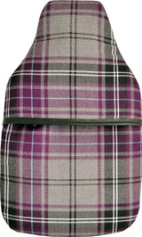 Plum Tartan Padded Cotton Cover 2L Hot Water Bottle