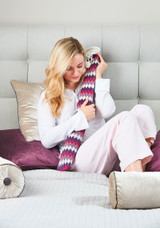 Purple Chevron Cover Ex-Long Hot Water Bottle