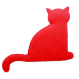 Red Minina Cat Heatable Tummy & Body Warmer Pillow