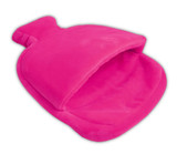 Pink Fleece Single Pouch Hot Water Bottle Foot Warmer