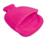 Pink Fleece Single Pouch Hot Water Bottle Foot Warmer