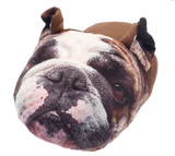 British Bulldog Photo Fleece Novelty 3D Giant TV Slippers