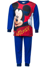 Boys Disney Mickey Mouse Character Print Long Pyjama Set: Royal Blue