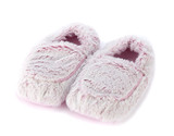 Warmies Cozy Body Pink Marshmallow Fur Microwavable Slippers
