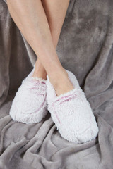 Warmies Cozy Body Pink Marshmallow Fur Heatable Slippers