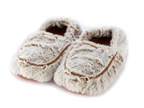 Warmies Cozy Body Beige Marshmallow Fur Microwavable Slippers