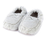 Warmies Cozy Body Grey Marshmallow Fur Microwavable Slippers