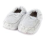 Warmies Cozy Body Grey Marshmallow Fur Microwavable Slippers