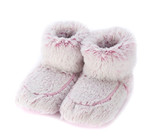 Warmies Cozy Body Pink Marshmallow Fur Microwavable Boots