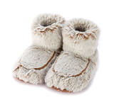 Warmies Cozy Body Beige Marshmallow Fur Microwavable Boots