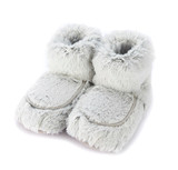 Warmies Cozy Body Grey Marshmallow Fur Microwavable Boots
