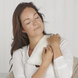Cream Faux Fur Scented Microwavable Body Wrap