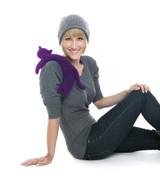Purple Minina Cat Unscented Heatable Neck Warmer Pillow
