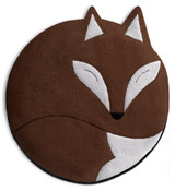 Luca the Fox Heatable Tummy & Body Warmer Pillow: Chocolate