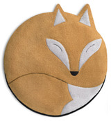 Luca the Fox Heatable Tummy & Body Warmer Pillow: Sand