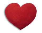 Warming Heart Heatable Tummy & Body Warmer Pillow: Plain