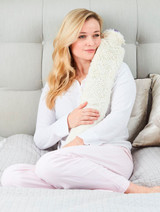 Cream Faux Fur Cover Extra Long Tubular PVC Hot Water Bottle