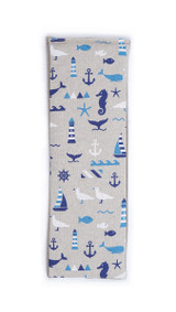 Lavender or Unscented Cotton & Fleece Wheat Bag: Nautical Blue