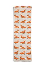 Lavender or Unscented Cotton & Fleece Wheat Bag: Orange Foxes