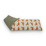 Lavender or Unscented Cotton & Fleece Wheat Bag: Orange Foxes