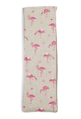 Lavender or Unscented Cotton & Fleece Wheat Bag: Pink Flamingos