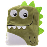 Snuggable Fleece Dinosaur Microwaveable Heat Pack Cushion: Dark Green