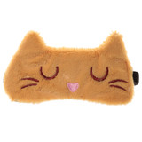 Sleepy Pussy Cat Soft Faux Fur Novelty Sleep Mask: Beige