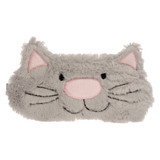 Happy Pussy Cat Soft Grey Faux Fur Novelty Sleep Mask