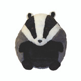 Cozytime Badger Fluffy Faux Fur Giant Hand Warmer