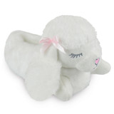 Girls Cute Poodle Soft Faux Fur Cosy Lining 3D Novelty Slippers: White