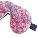 Strawberry Thief Red Liberty Print Cotton Padded Eye Mask