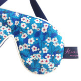 Mitsi Blue Liberty Print Cotton Padded Eye Mask