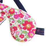 Betsy Red Liberty Print Cotton Padded Eye Mask
