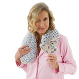 Aroma Home So Long Grey Textured Faux Fur 2L Long Hot Water Bottle