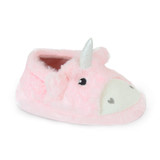 Toddler Girls Baby Pink Fluffy Faux Fur Unicorn Slippers
