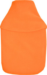 Plain Orange Cosy Fleece 2L Hot Water Bottle & Cover