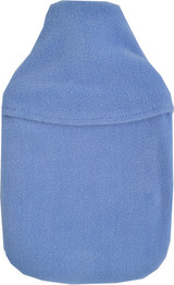 Hyacinth Blue Plain Cosy Fleece 2L Hot Water Bottle & Cover