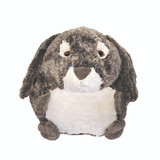 Cozytime Grey Bunny Rabbit Fluffy Faux Fur Giant Hand Warmer