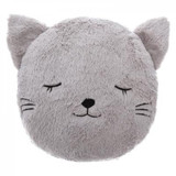 Childs Supersoft Grey Cat Faux Fur Snuggle Cushion