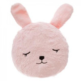 Childs Supersoft Pink Bunny Faux Fur Snuggle Cushion