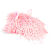 Ladies / Girls Pink Shaggy Hair Alpaca 3D Novelty Slippers