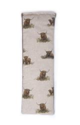 Lavender or Unscented Cotton & Fleece Wheat Bag: Highland Cows