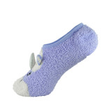 Ladies Snug & Stretchy  Unicorn Footlet Slippers Lilac