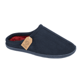 Jo & Joe Mens Cliff Navy Faux Suede Fleece Lined Mule Slippers