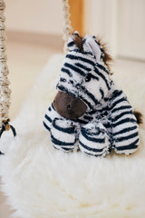 Warmies Cozy Plush Zebra Fully Microwavable Toy